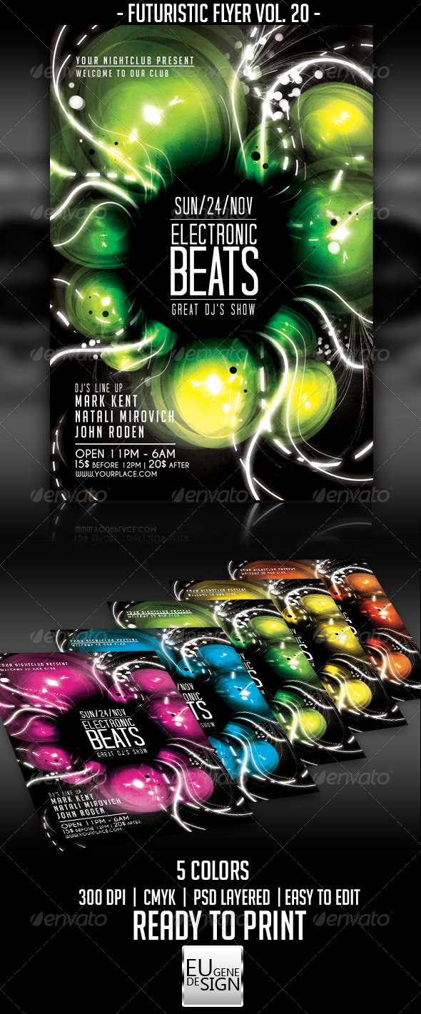 GraphicRiver Futuristic Flyer Vol 20 5650609