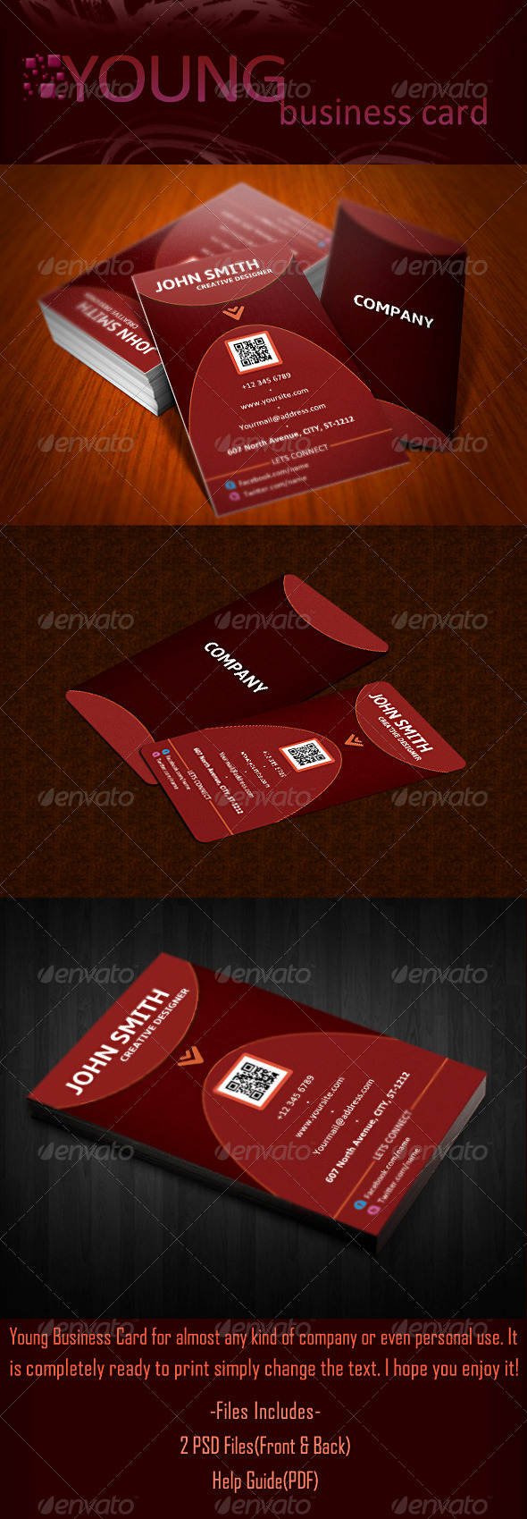 GraphicRiver Young Business Card Design 5650744