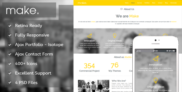 Make - Responsive Parallax Onepage Template - Portfolio Creative