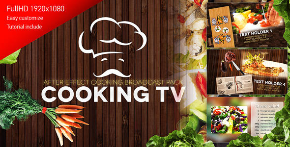 Cooking TV After Effects Cook Broadcast Pack