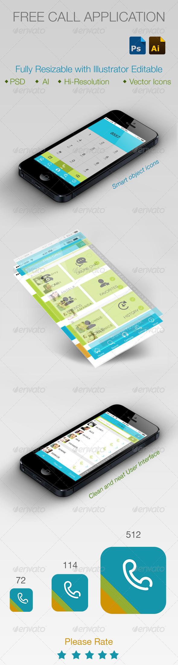 GraphicRiver Free Call Application Smartphone 5645799