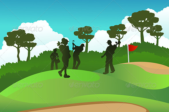 GraphicRiver Golf Players 5651704