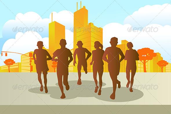 GraphicRiver Marathon Runners 5652107