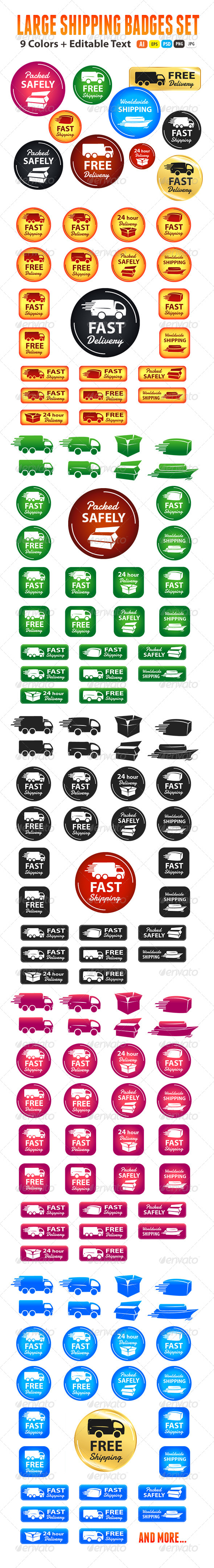 GraphicRiver Large Set Of Shipping And Delivery Badges 5652293