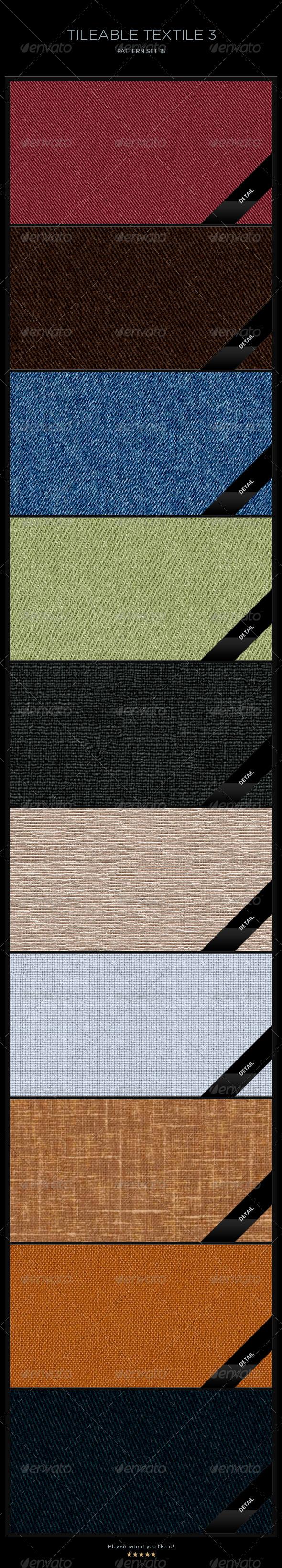 GraphicRiver 10 Tileable Textile-3 Textures Patterns 5652653