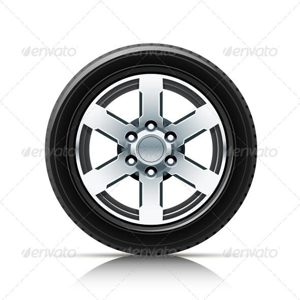 GraphicRiver Car Wheel 5652662