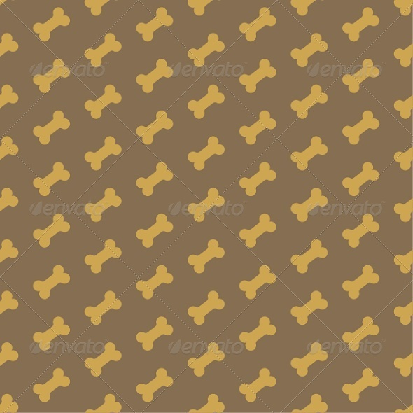 Bone For Dog Seamless Texture