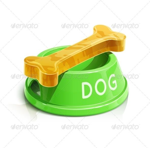 GraphicRiver Bowl with Bone For Dog 5652674