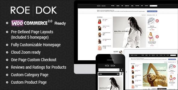 WooCommerce WordPress Theme - RoeDok