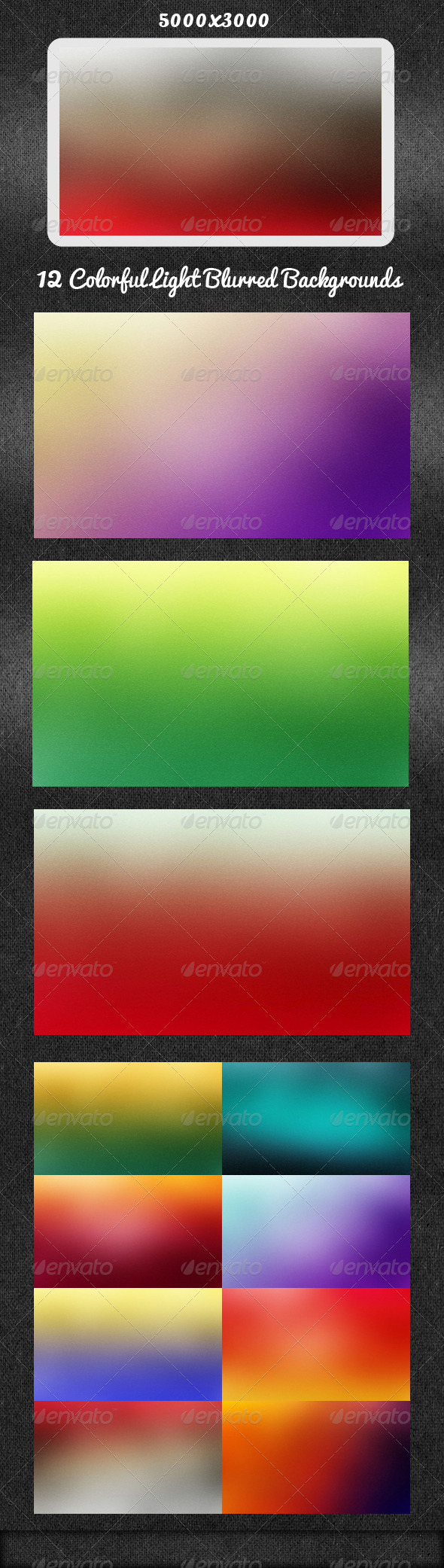 GraphicRiver 12 Colorful Light Blurred Backgrounds 5652727