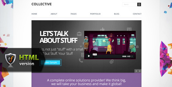 ThemeForest Collective Professional HTML Theme 5652767
