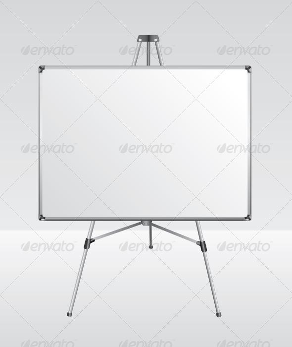 GraphicRiver Standing White Board 5652932