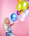 blonde girl with balloons - PhotoDune Item for Sale