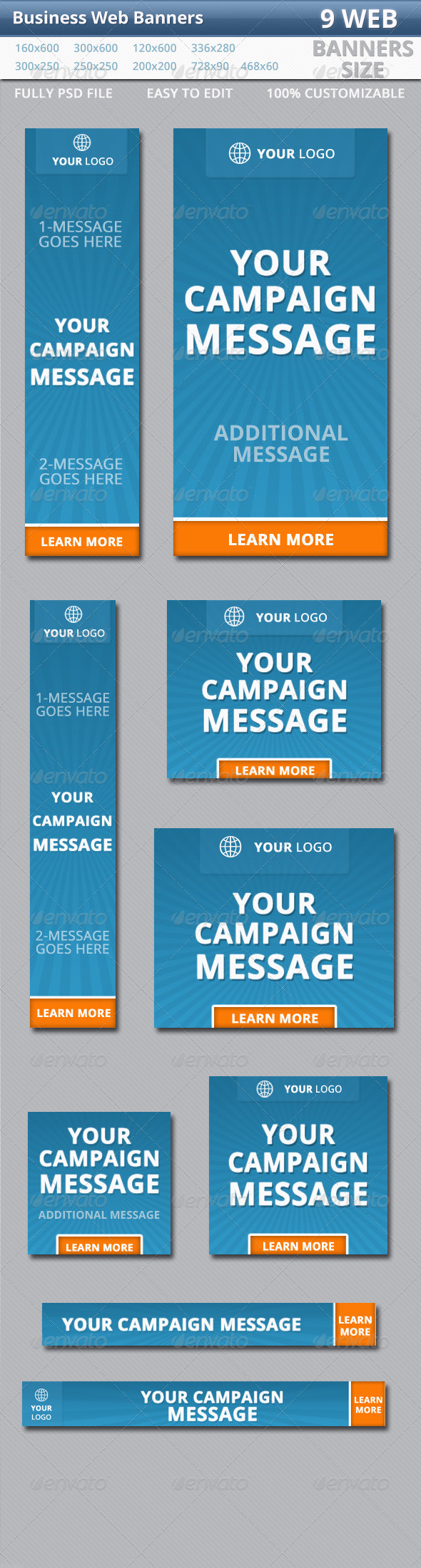 GraphicRiver Business Web Banners 5632523