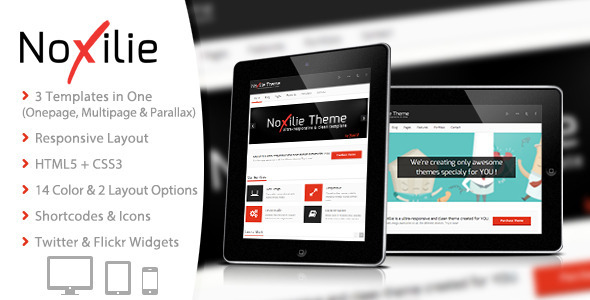 NoXilie - Multipurpose Responsive HTML Template - Creative Site Templates