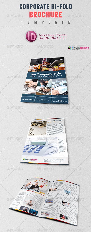 Bi-Fold Corporate Brochure Template V-11