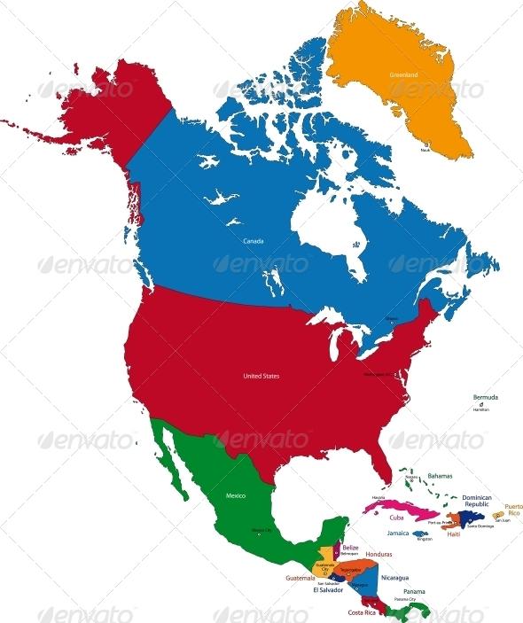 GraphicRiver North America Map 5653617