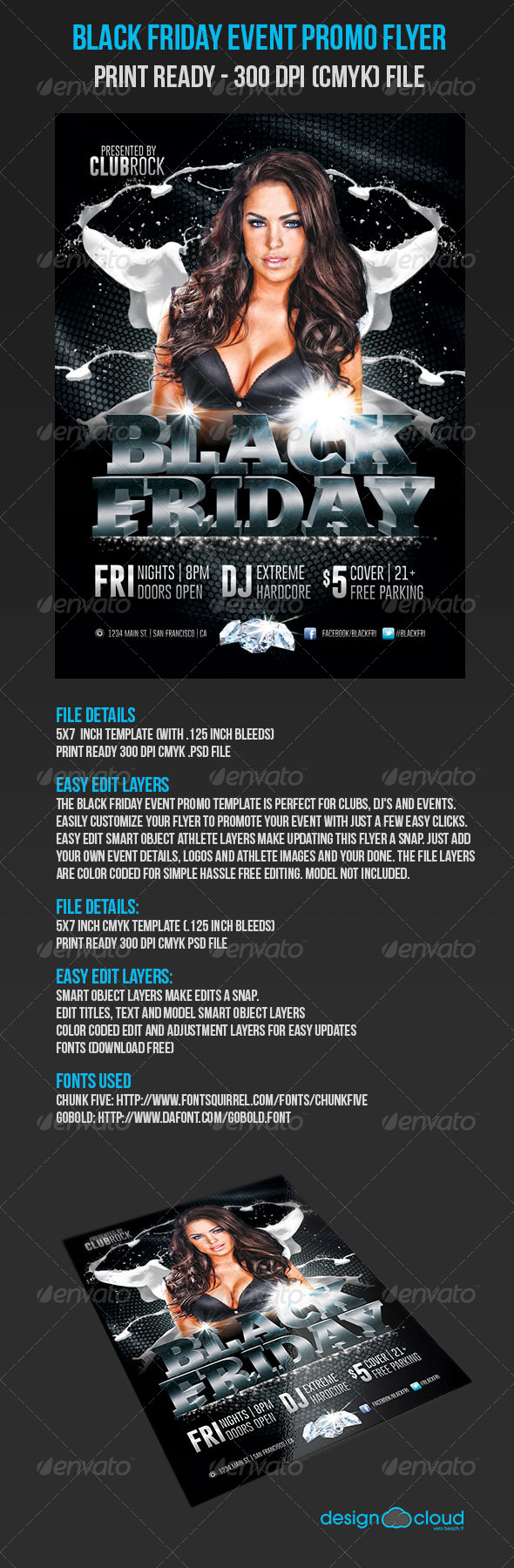 GraphicRiver Black Friday Event Promo Flyer 5653652