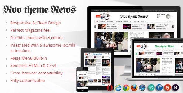 ThemeForest NooTheme NooNews Joomla 3 Responsive Magazine 5653712