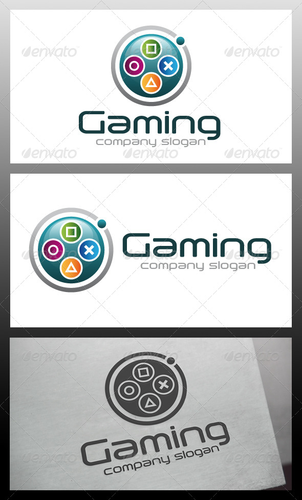 GraphicRiver Gaming Logo Template 5653795