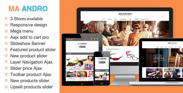 Andro Responsive Magento Theme - Magento eCommerce
