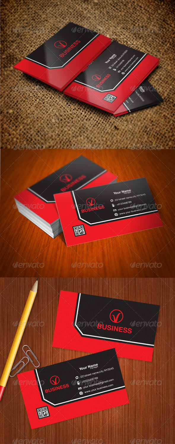 GraphicRiver Modern Card 5653976