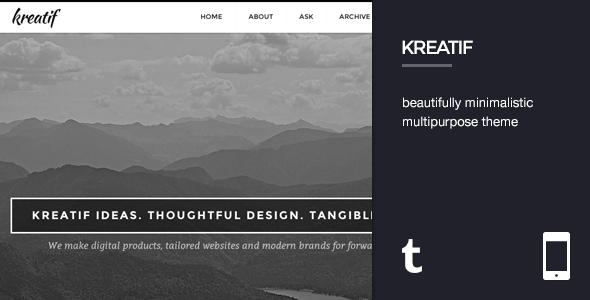 Kreatif - Responsive Tumblr Portfolio Theme