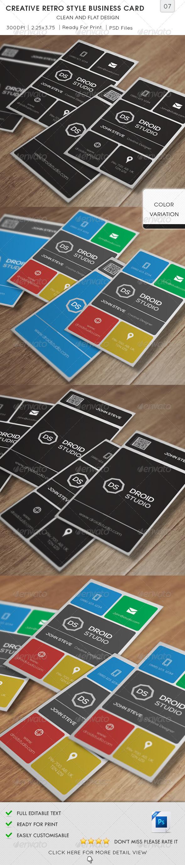 GraphicRiver Creative Retro Style Business Card v07 5654087