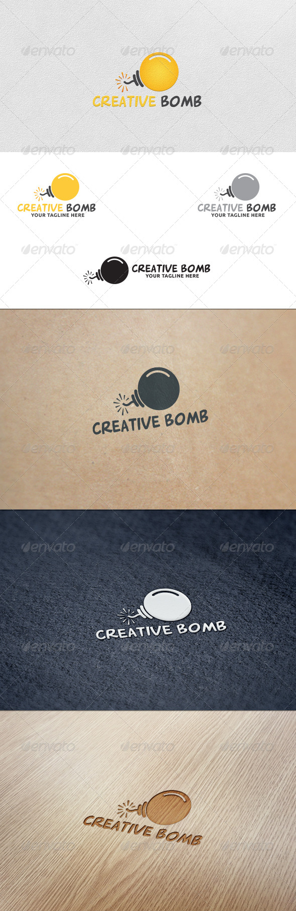 GraphicRiver Idea Bomb Logo Template 5654116
