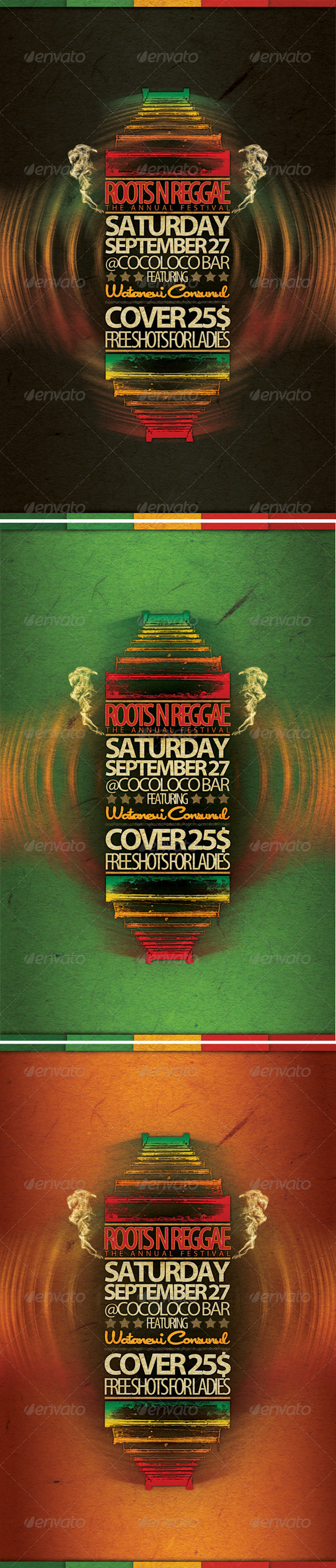 GraphicRiver Roots n Reggae Flyer 581726