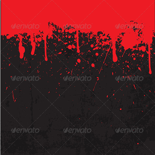 Grunge Blood Splatter Background - Halloween Seasons/Holidays