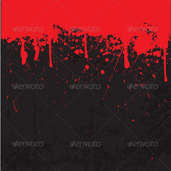 GraphicRiver Grunge Blood Splatter Background 5654504