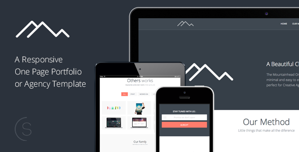 Mountainhead - Responsive One Page HTML Template - Portfolio Creative