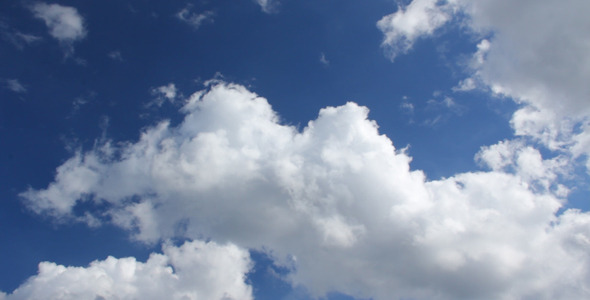White Clouds on a Blue Sky Time Lapse