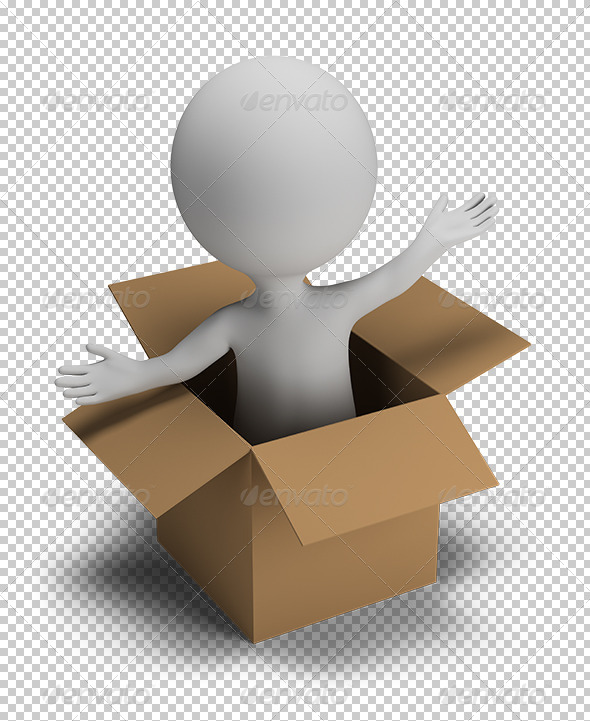 GraphicRiver 3D Small People in the Box 5655800