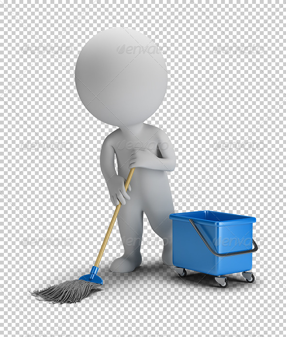 GraphicRiver 3D Small People Sweeper 5655889