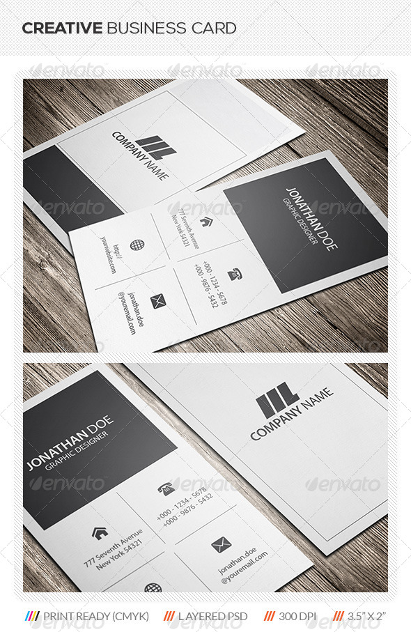 GraphicRiver Metro Style Business Card 5656264