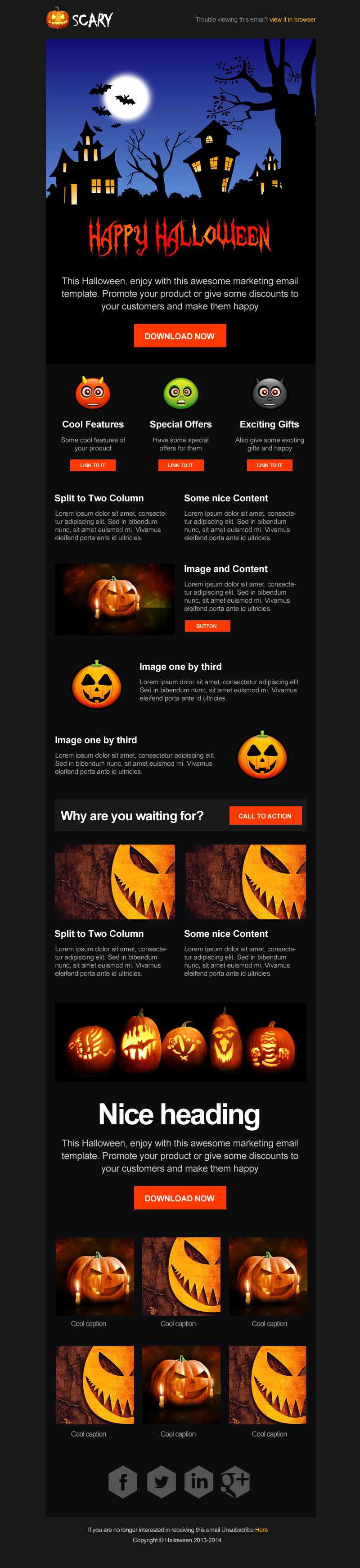 Scary - Halloween Email Campaign Template