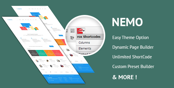 ThemeForest Nemo White Premium WordPress Theme 5644577