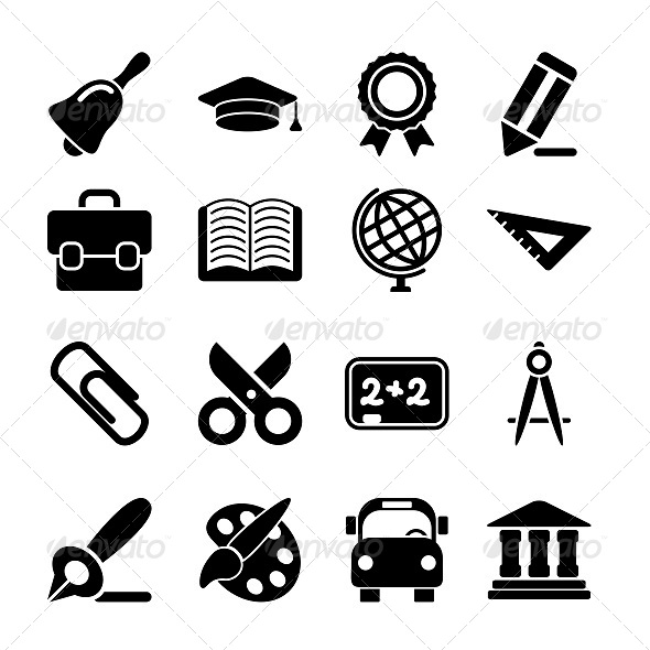 GraphicRiver Education Icons 5656585
