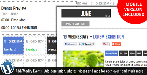 WordPress Events - Calendar Plugin