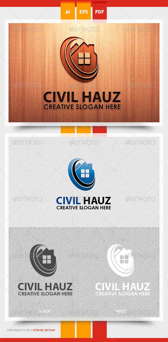 GraphicRiver Civil Hauz Logo Template 5656890