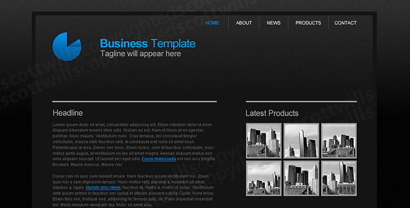 ThemeForest Business Template Dark & Clean 25280