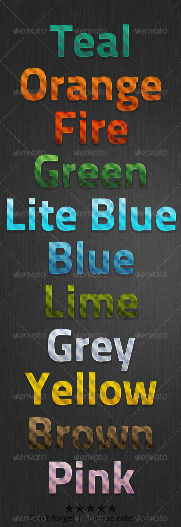 Diagonal Style - Text Effects Styles