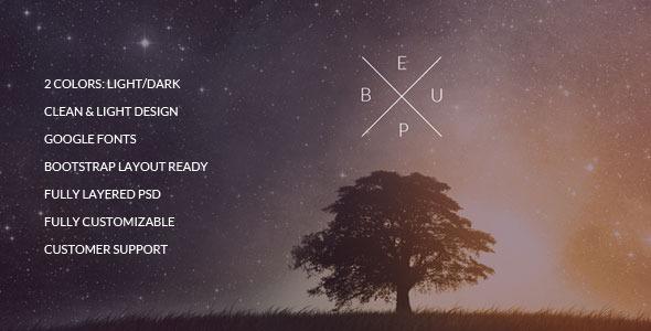 BeUp - One Page Multi Purpose PSD Theme