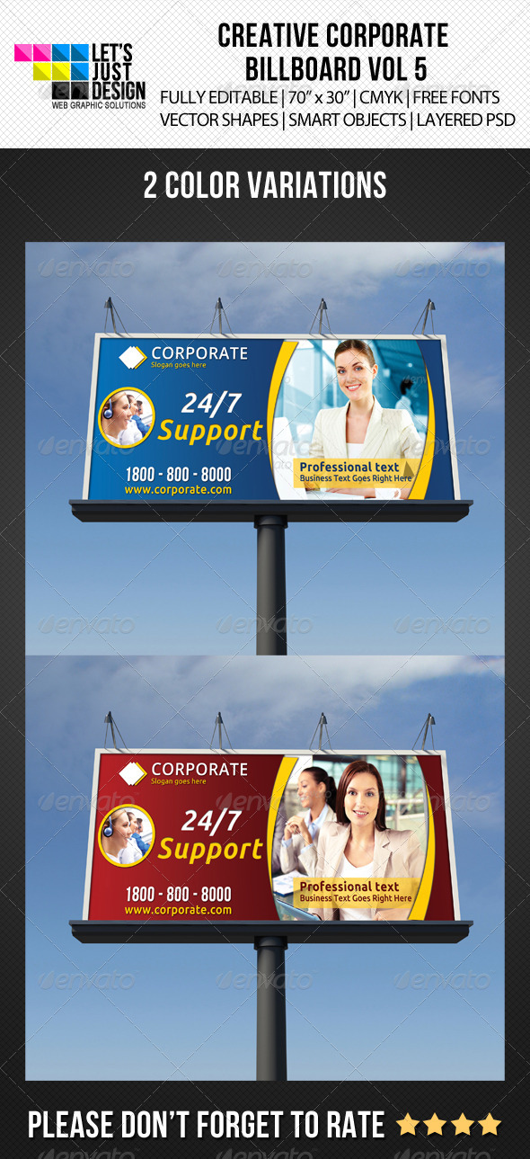 Corporate Billboard Banner Vol 5 - Signage Print Templates