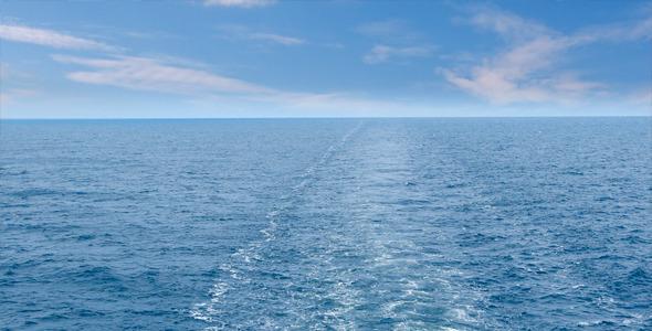 Sea Skyline Behind A ship