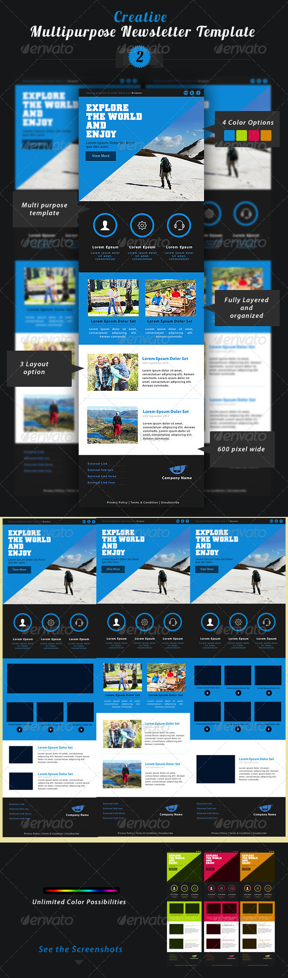 GraphicRiver Creative Multipurpose Newsletter PSD Template 2 5658010