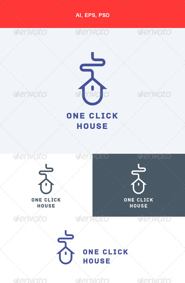 GraphicRiver One Click House Logo 5658159