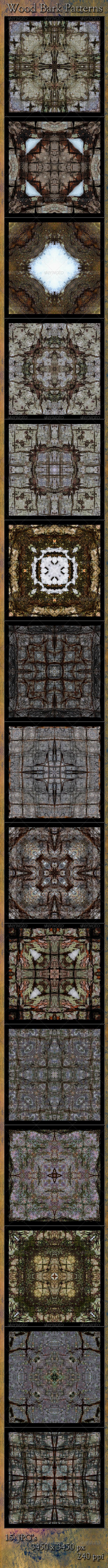 Wood Bark Pattern Textures